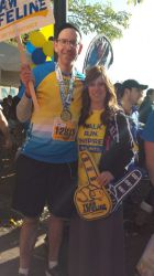 Victor K and wife - Post Marathon Run